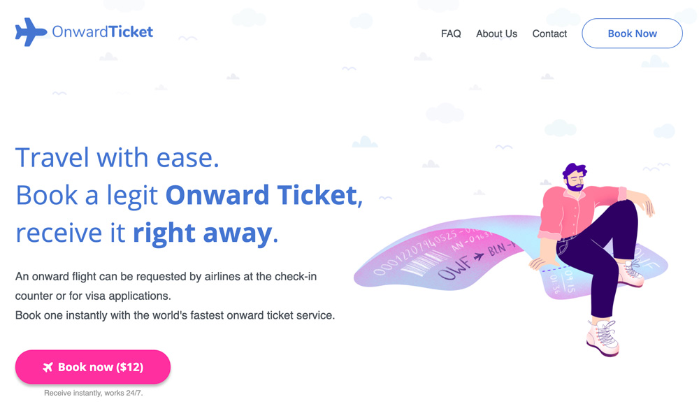 Best Onward Ticket service