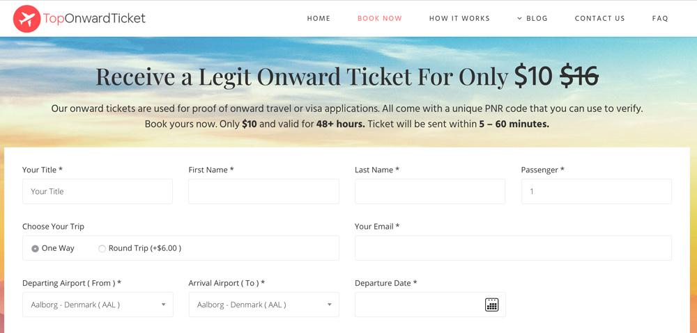 Top onward ticket service